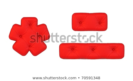 Luxury Red Leather Font Hyphen And Asterisk Stok fotoğraf © Arsgera