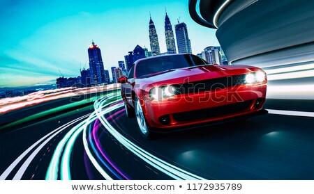 Piros sportok jármű izolált fehér enyém Stock fotó © TheModernCanvas
