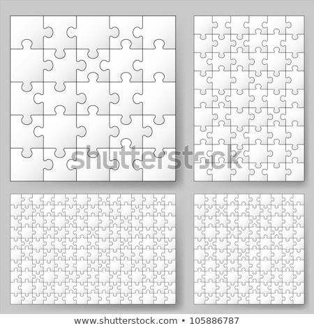 ストックフォト: 白 · パズルのピース · 反射