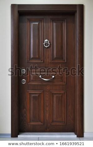 keyhole on wooden door stock photo © adrian_n