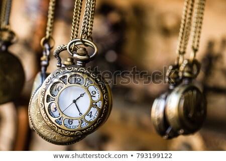 Eski saat mekanik iç mekanizma yakın Stok fotoğraf © ddvs71
