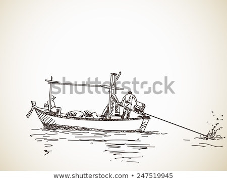 pêcheur · longtemps · queue · bateau · beauté · navire - photo stock © vichie81