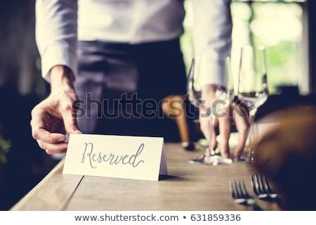 Reserved Restaurant Table Stock photo © klsbear