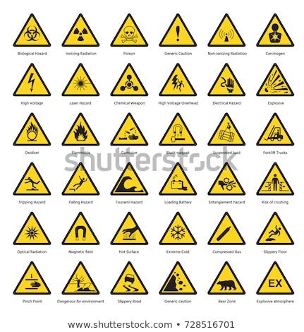 Set hazard warning symbols Stock photo © Ecelop