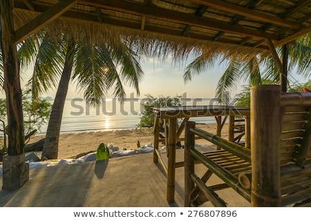 Capanna tropicali mare view piccolo Foto d'archivio © Kacpura