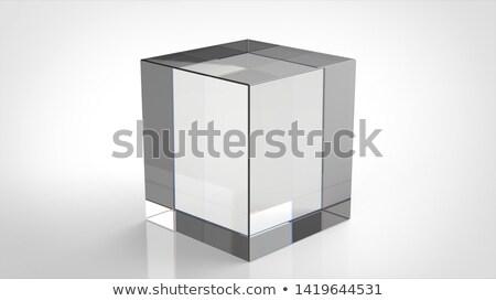 Solido vetro cubo studio fotografia gradiente Foto d'archivio © prill