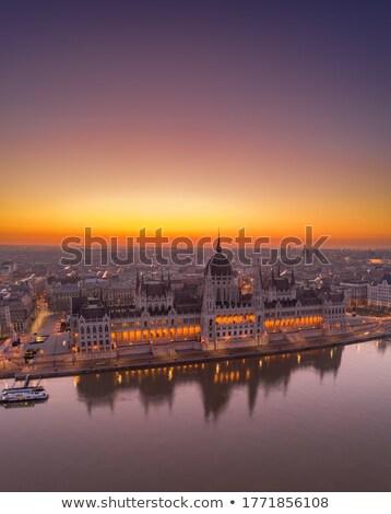 húngaro · parlamento · edifício · madrugada · Budapeste · europa - foto stock © lithian