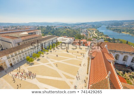 Clock tower Coimbra Portugal Stock photo © jeayesy