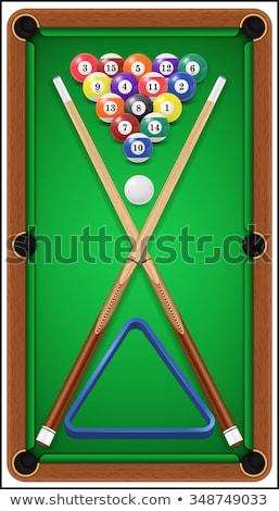 игры · бассейна · зеленый · таблице · весело - Сток-фото © BrunoWeltmann