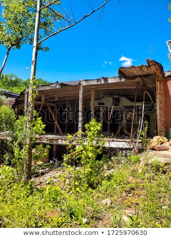 заброшенный отель реке мотель Ghost дома Сток-фото © jeremywhat