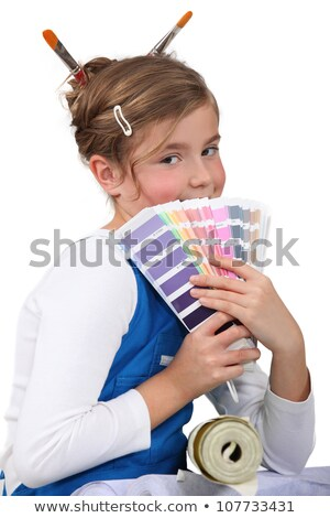 Little girl with pain swatch Stock photo © photography33