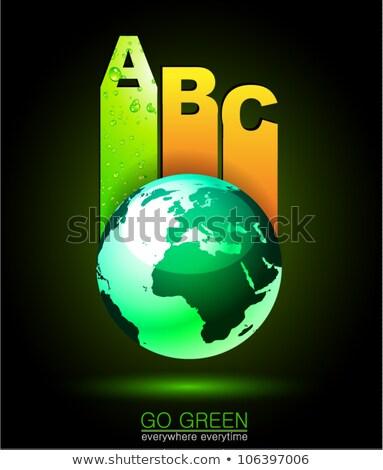 Foto stock: Documentos · membro · eco · verde · idéia