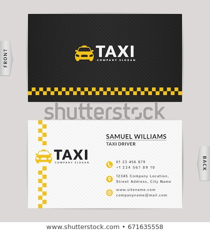 Stock photo: Business cards taxi set