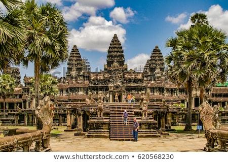 khmer stone carvings angkor wat cambodia Stock photo © travelphotography
