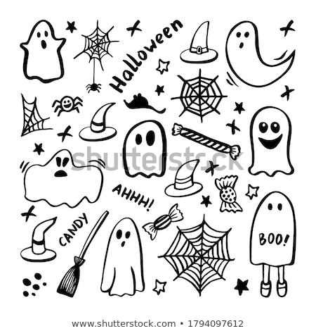 halloween doodle stock photo © vectomart