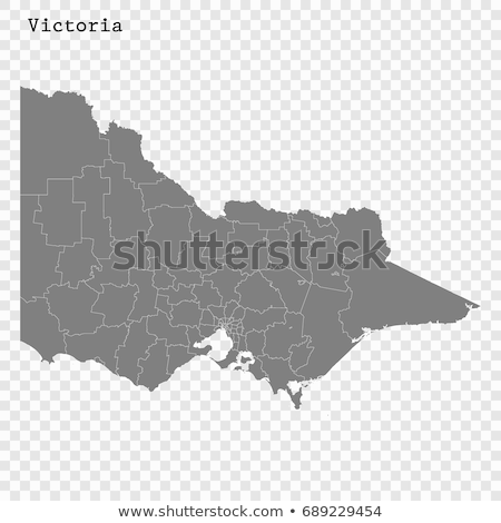 Textured map of Victoria Australia Stock photo © speedfighter
