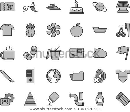 icon · speelgoed · baby · kinderen · zwarte - stockfoto © konturvid