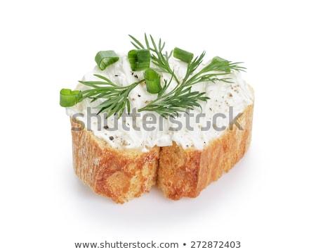 Izolált kenyér sajt snidling étel háttér Stock fotó © M-studio