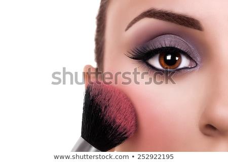vrouw · paars · oog · schaduw · mascara - stockfoto © wavebreak_media
