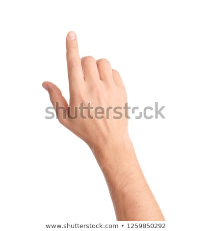 Foto stock: Male Hand With Pointing Finger Showing Something