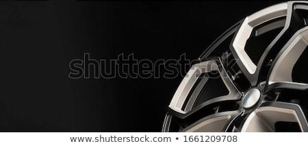 negro · aleación · rueda · alto · calidad · aislado - foto stock © djdarkflower