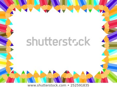 Színesceruza keret mini ceruzák mutat oktatás Stock fotó © Lightsource