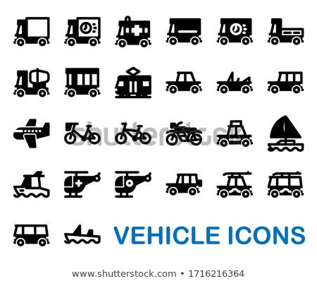 set of transport icons   rescue stock photo © ecelop