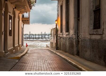 Panama şehir eski sömürge evler Stok fotoğraf © dacasdo