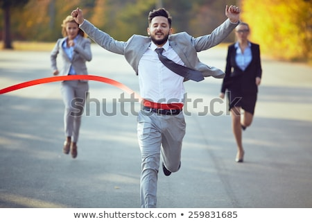 Competitive Businesswoman Stock photo © Pressmaster
