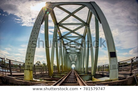 Vietnam Quang Binh Province: train bridge and track. stock photo © Klodien