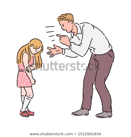Conflict between father and daughter Stock photo © doupix