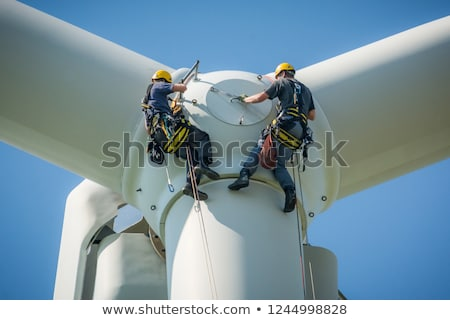 white wind turbines Stock photo © ssuaphoto
