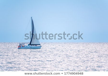 mavi · deniz · yelkenli · yelkencilik · okyanus · yüzey - stok fotoğraf © lunamarina