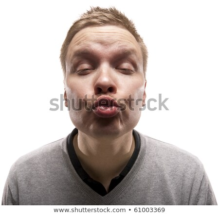 Funny man trying to give a kiss. stock photo © Reaktori