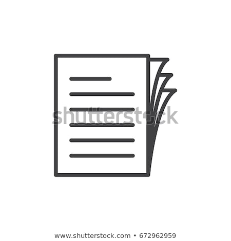 Icon paper Stock photo © zzve