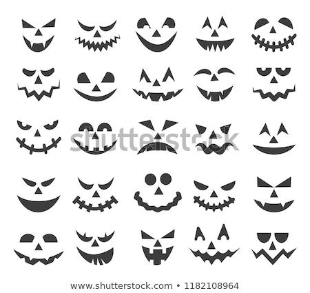 Assustado vetor desenho animado ilustração abóbora cabeça Foto stock © fizzgig