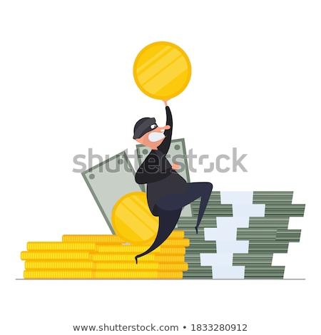 thief with a dollar coin stock photo © kirill_m