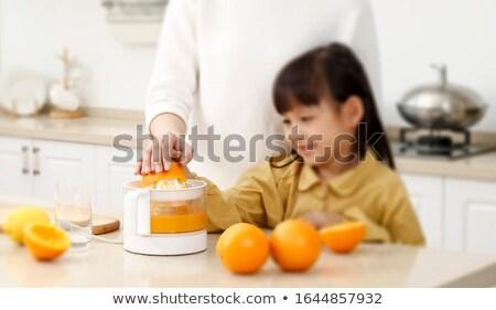 Portakal meyve suyu el turuncu Stok fotoğraf © Tagore75