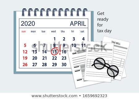 Imposto dia colorido dinheiro carro azul Foto stock © bharat
