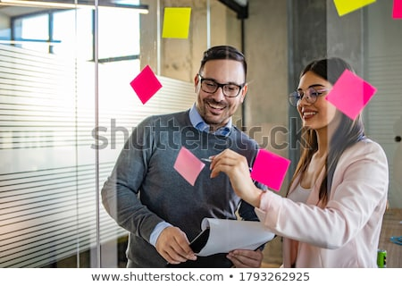 Sposób spotkanie kobieta interesu mówić telefonu komórkowego Zdjęcia stock © Fisher