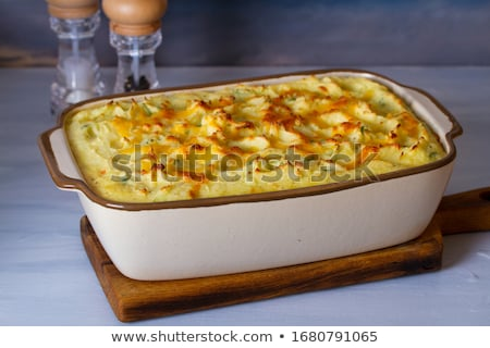 Baked fish fillets in an oven pan Stock photo © stryjek