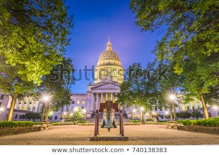 West Virginia gebouw entree zwarte architectuur macht Stockfoto © benkrut