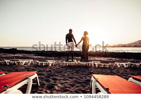 para · miłości · na · barana · gry · plaży · niebieski - zdjęcia stock © nejron