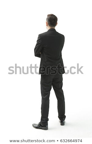 Rear view Caucasian businessman looking away full length Stock photo © dgilder