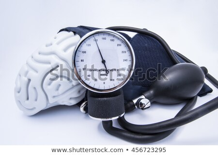 Sphygmomanometer bulb and cuff Stock photo © njnightsky