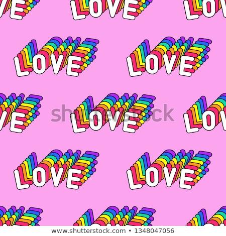 eşcinsel · sendika · birisi · eller · boyalı · gökkuşağı - stok fotoğraf © nito
