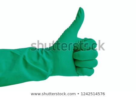 Kciuk w górę podpisania strony rękawica odizolowany Zdjęcia stock © tungphoto