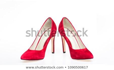 elegant red female shoes stock photo © elisanth
