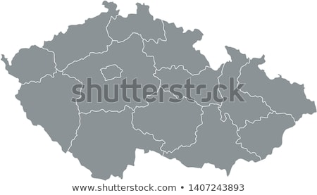 Silhueta mapa República Checa assinar branco Foto stock © mayboro