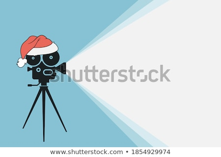 Santa with camcorder Stock photo © Novic